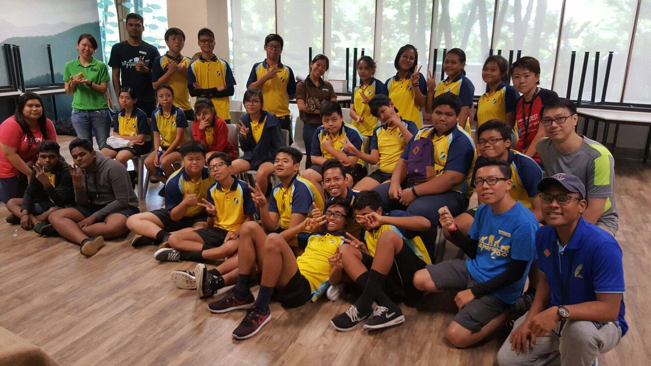 Debrief session after their enriching trip to the Singapore Zoo.jpg